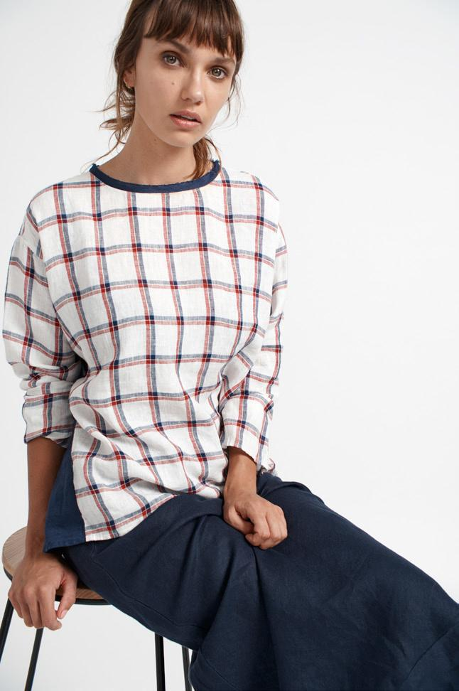 Buy Side Check Top from ALESSANDRA at paya boutique