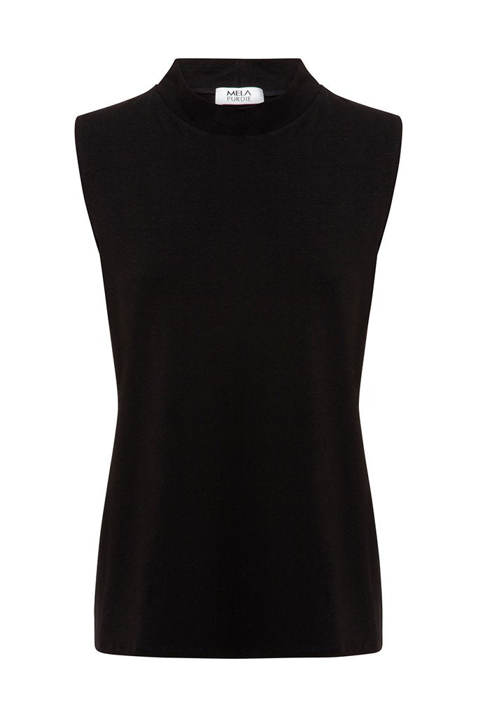 MELA PURDIE - Ascot Tank - Black online at PAYA boutique