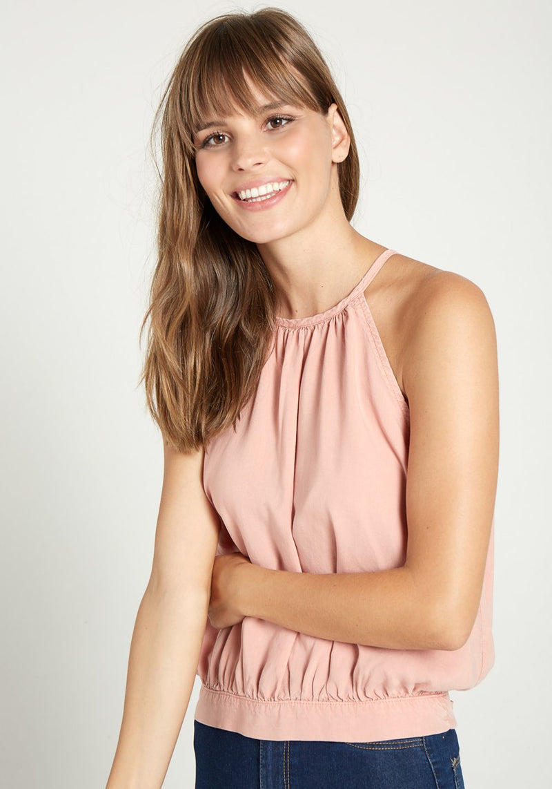 Buy Button Back Halter Blouse from BELLA DAHL at paya boutique