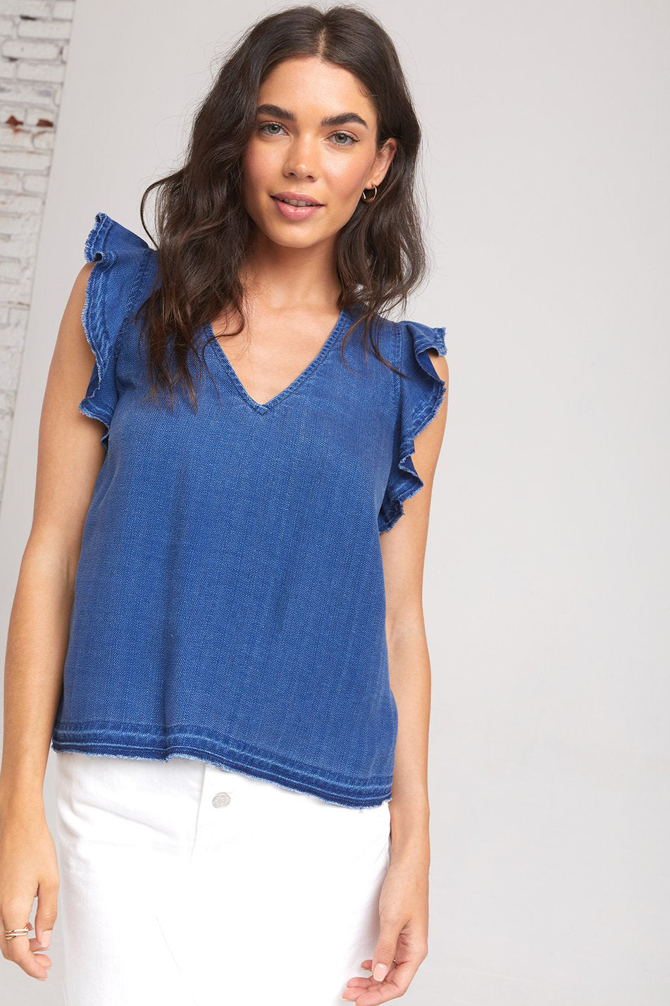 BELLA DAHL - Released Ruffle V-Neck Top online at PAYA boutique