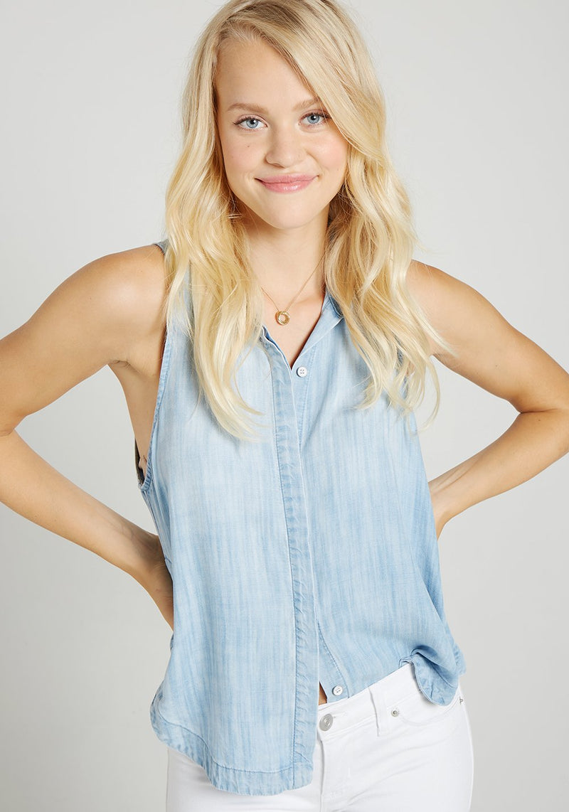 Buy Sleeveless Gusset Shirt from BELLA DAHL at paya boutique