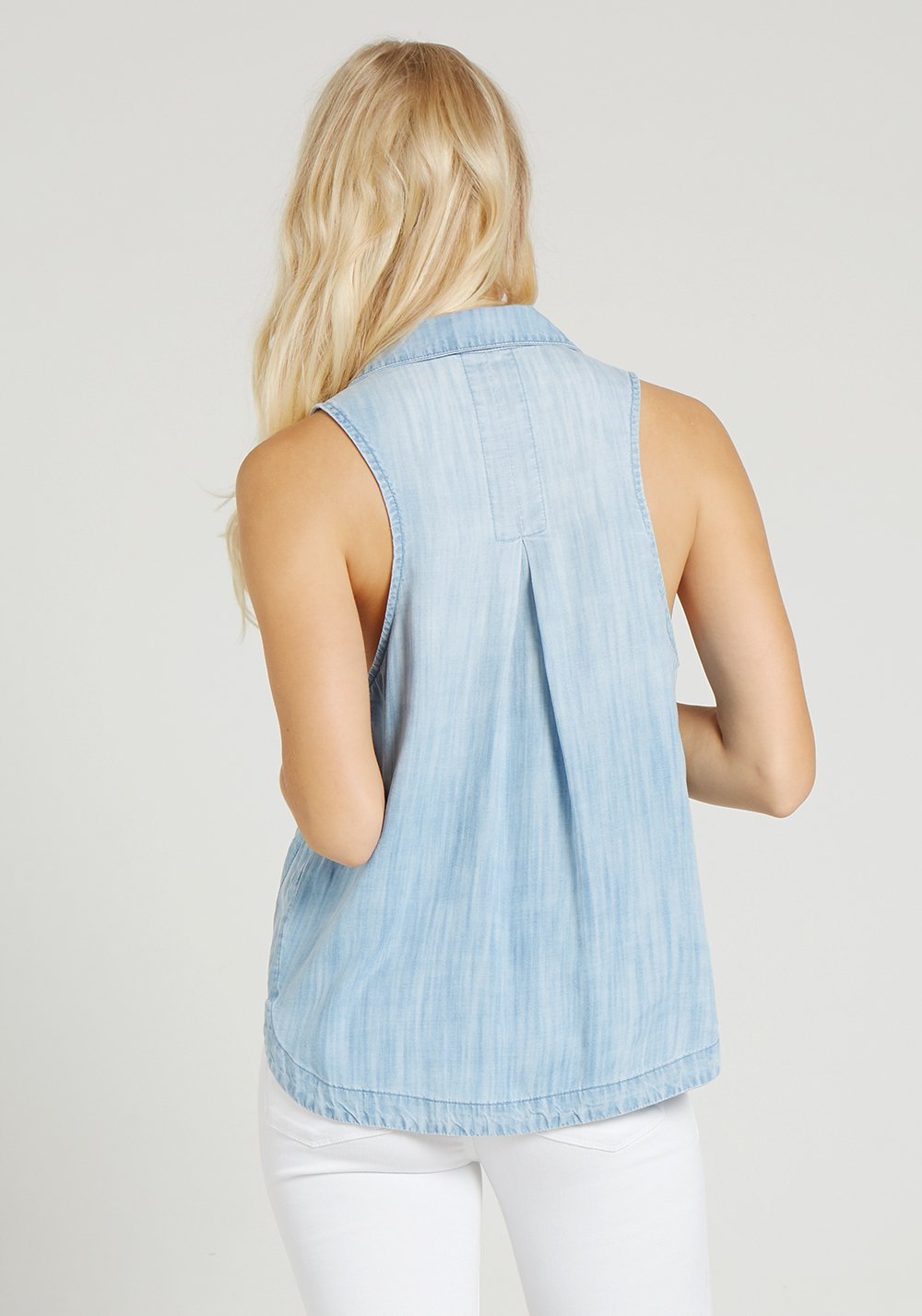 BELLA DAHL - Sleeveless Gusset Shirt online at PAYA boutique