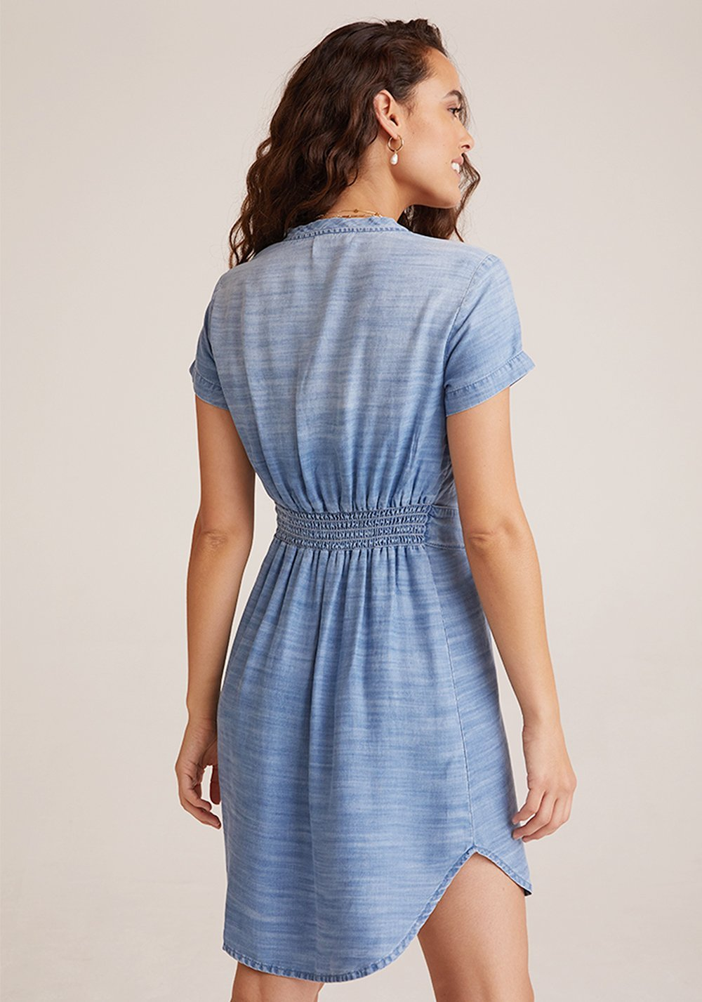 BELLA DAHL - Smock Waist V Neck Dress online at PAYA boutique