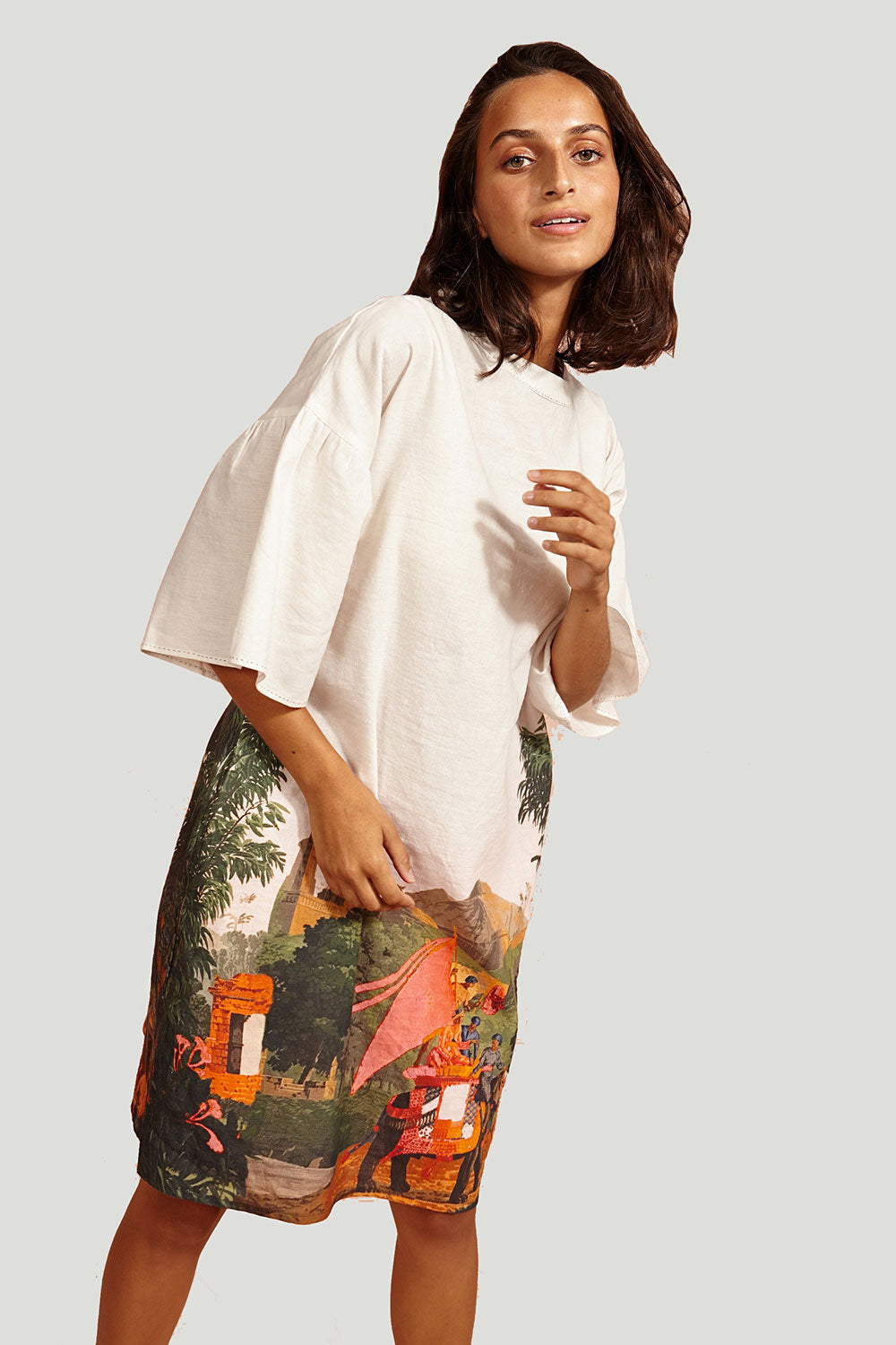 BINNY - The Spice Route Linen Dress online at PAYA boutique