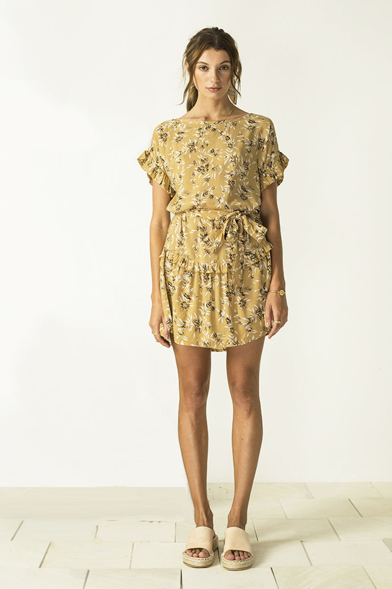 Mariee Dress Cottage Garden in amber by Bird and Kite at PAYA Boutique Online