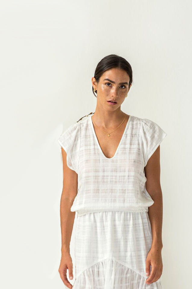 Stella Top in ivory from Bird and Kite at PAYA boutique online