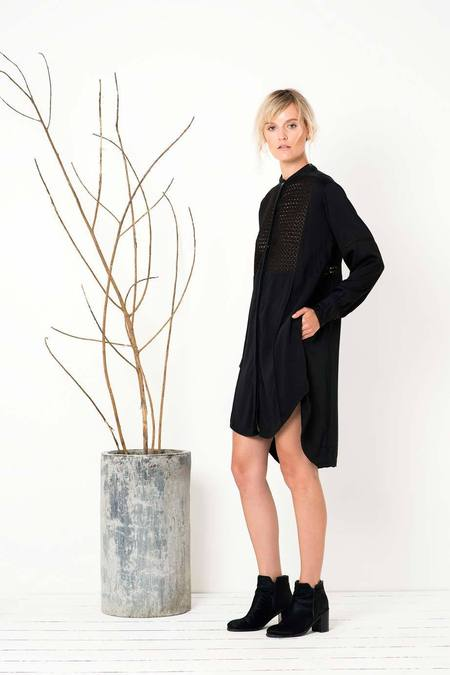 BIRD AND KITE - Rise & Fall Shirt Dress - Black online at PAYA boutique