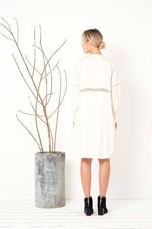BIRD AND KITE - Rise and Fall Shirt dress - Ivory online at PAYA boutique
