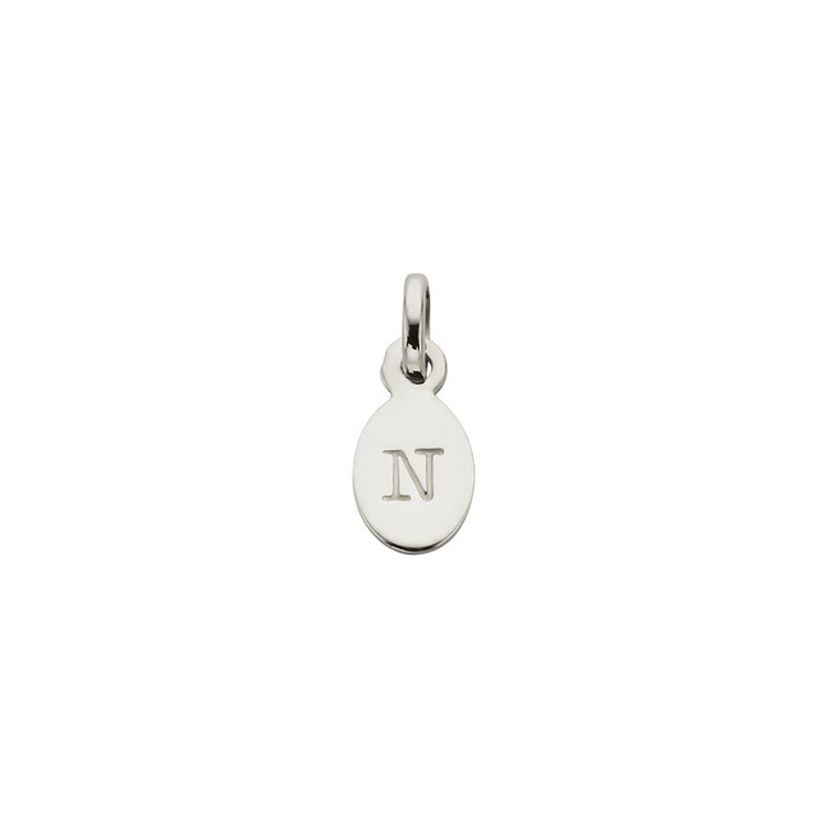 Kirstin Ash Oval Letter N Charm - Sterling Silver available online at PAYA boutique