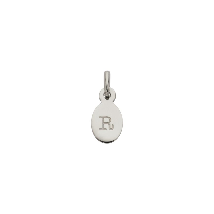 Kirstin Ash Oval Letter R Charm - Sterling Silver available online at PAYA boutique