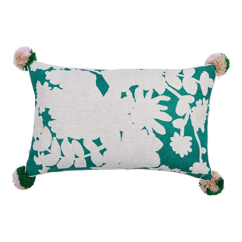 BONNIE & NEIL - Poppy Green Linen Cushion online at PAYA boutique