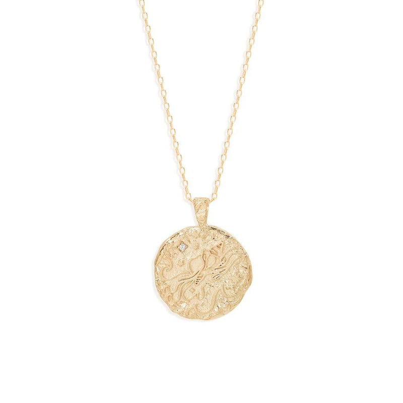 BY CHARLOTTE - Aquarius Zodiac Necklace online at PAYA boutique