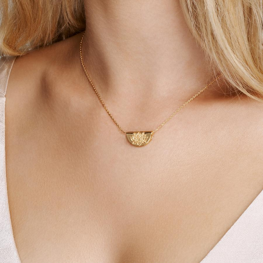 Buy Lotus Short Necklace from BY CHARLOTTE at paya boutique