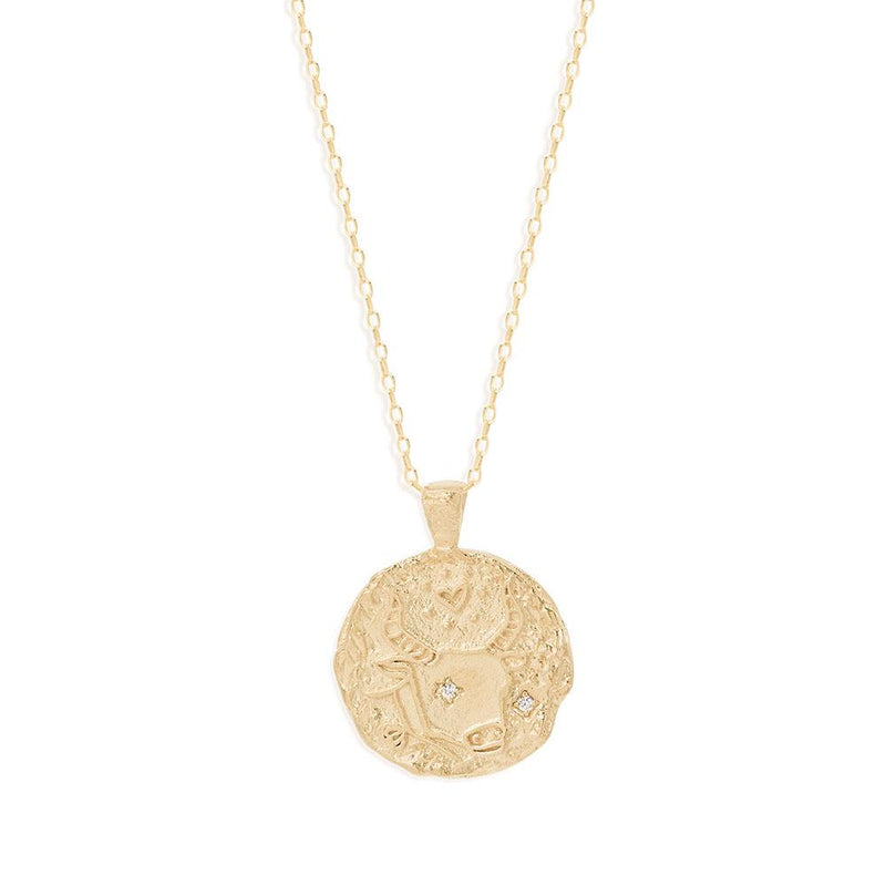 BY CHARLOTTE - Taurus Zodiac Necklace online at PAYA boutique
