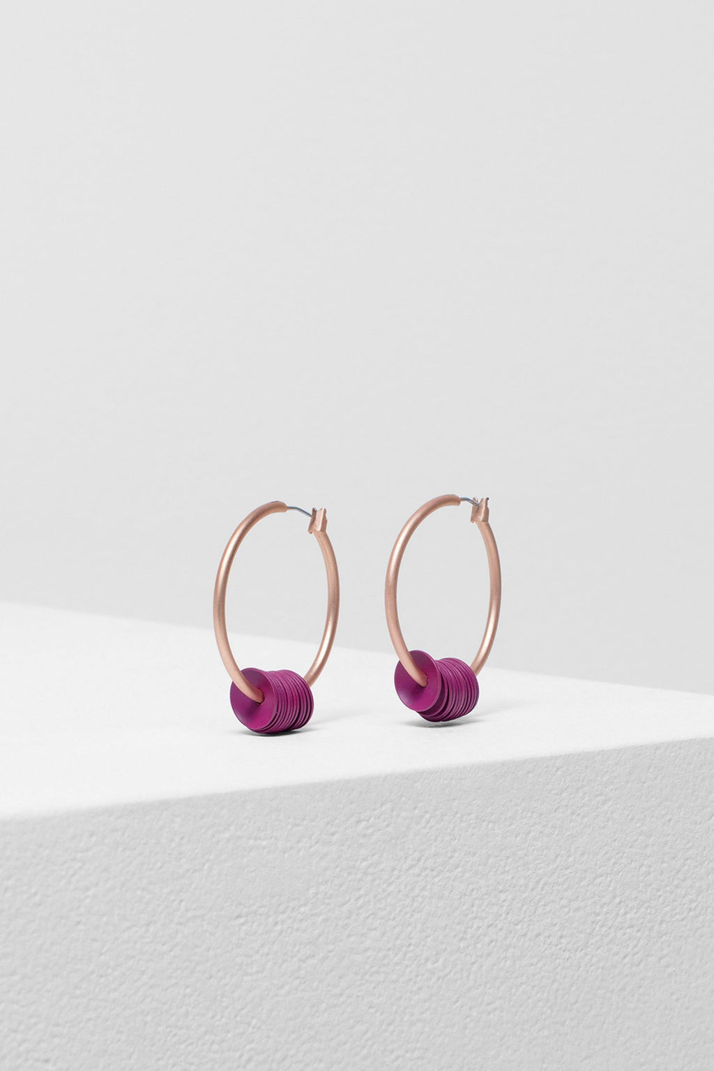 ELK The Label - Lerum Disc Earrings Magenta online at PAYA boutique