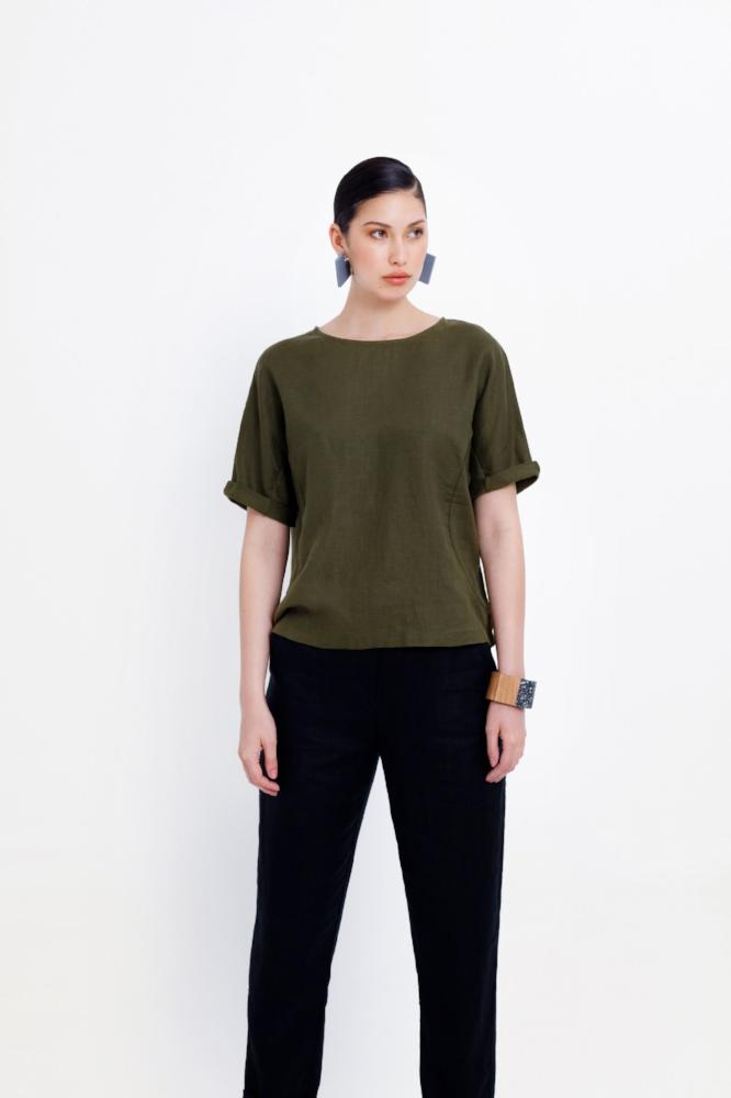 Buy Linen Box Top from ELK The Label at paya boutique