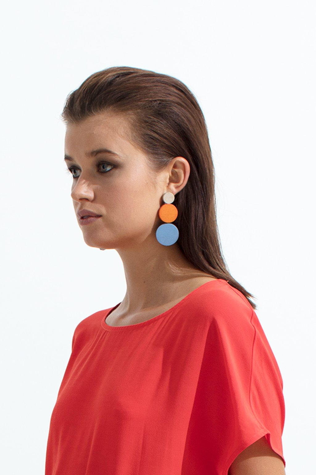 ELK The Label - Dorf Drop Earrings - White / Iron / Grass Green online at PAYA boutique