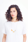ELK The Label - Lanai Half Necklace - Mandarin online at PAYA boutique