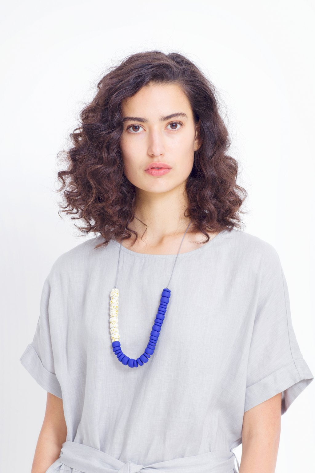 ELK The Label - Textura Half Necklace - Acid/ White / Iris Blue online at PAYA boutique