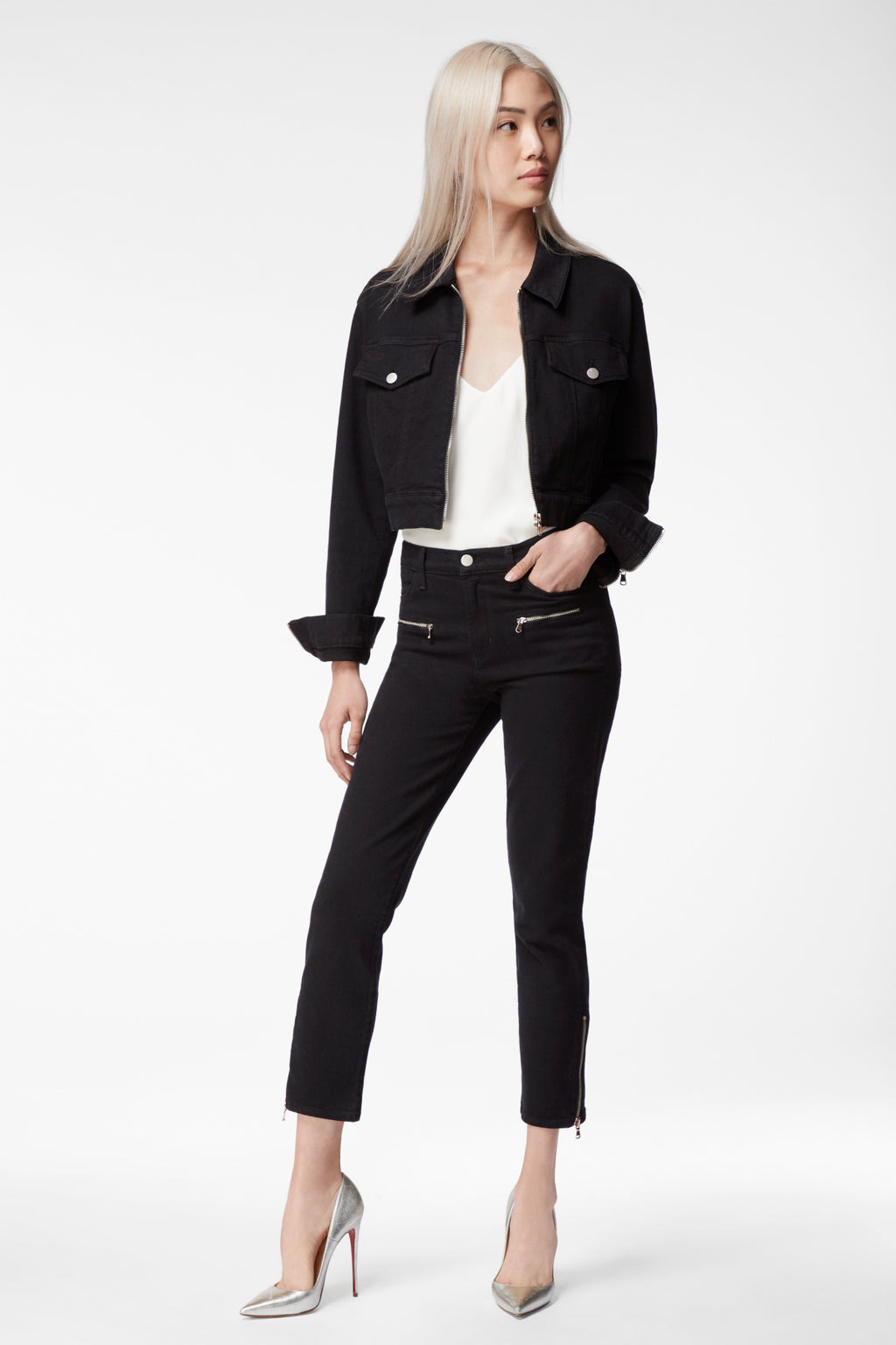 J BRAND - Moto Ruby High Rise Cropped Pants online at PAYA boutique