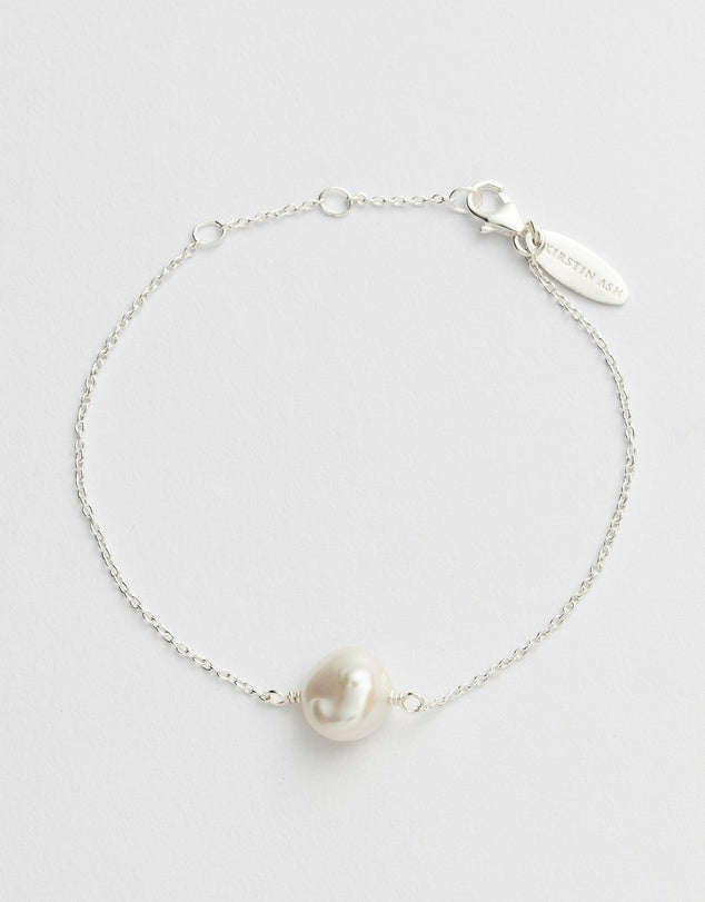 Kirstin Ash Pearl Bracelet - Silver available online at PAYA boutique