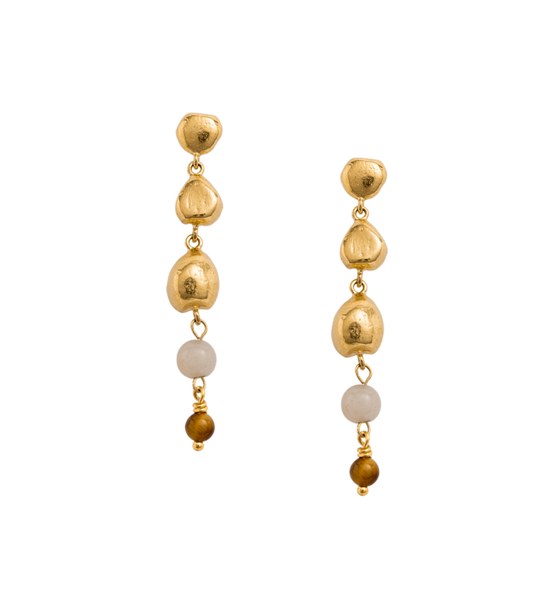 Artisan Drop Earrings in gold by Kirstin Ash at PAYA Boutique online
