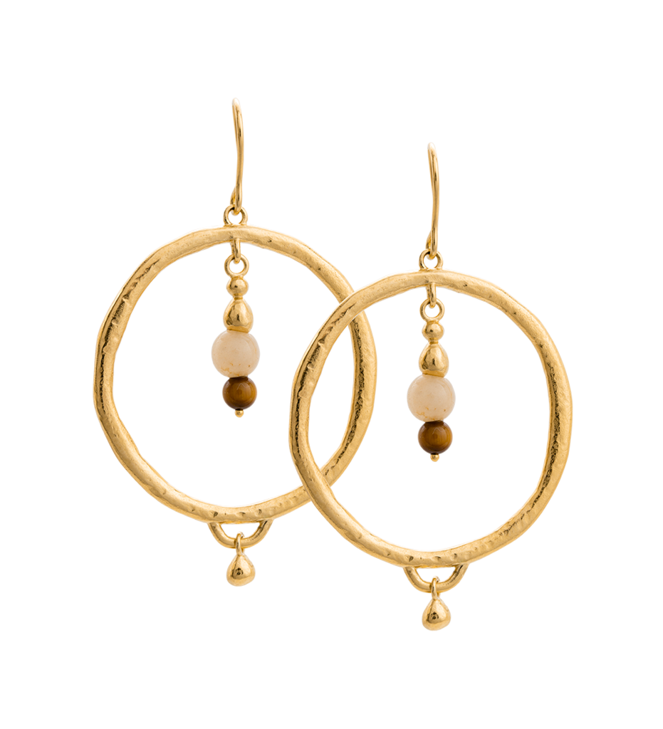 Artisan Hoop Earrings in gold by Kirstin Ash at PAYA Boutique online