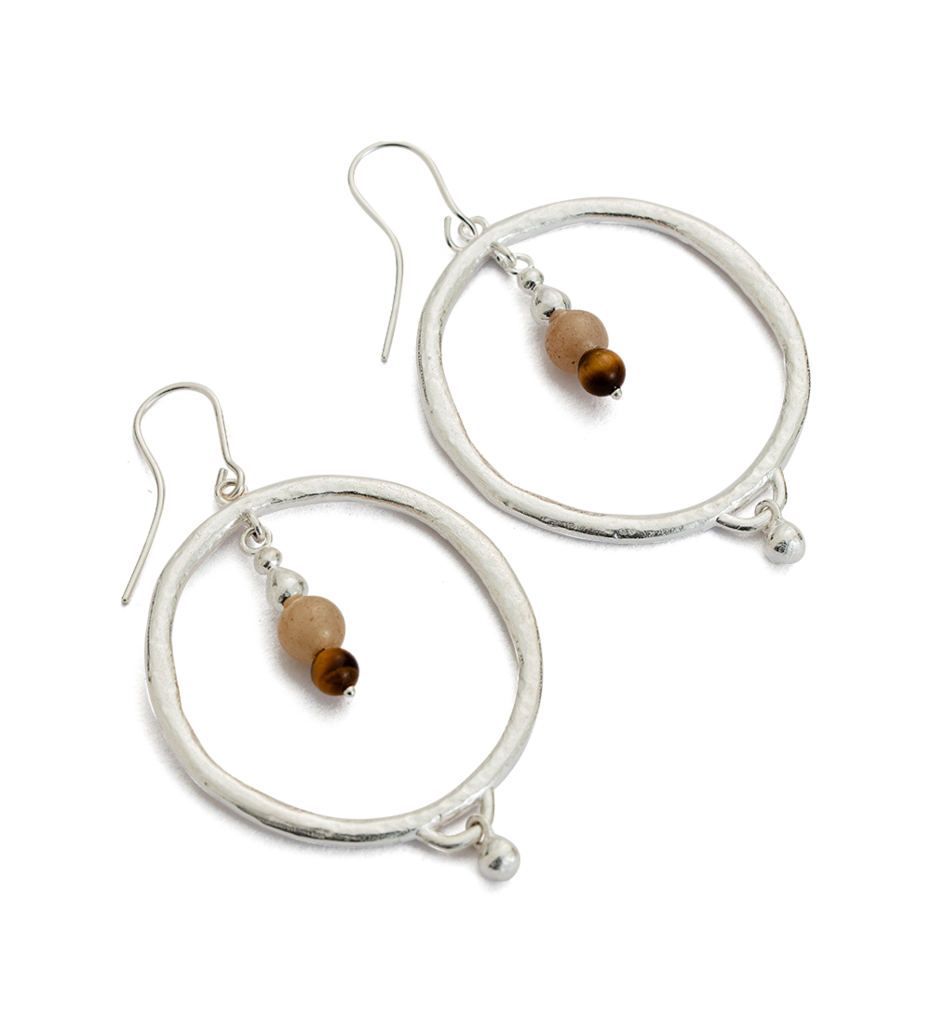 Artisan Hoop Earrings in silver by Kirstin Ash at aPAYA Boutique online