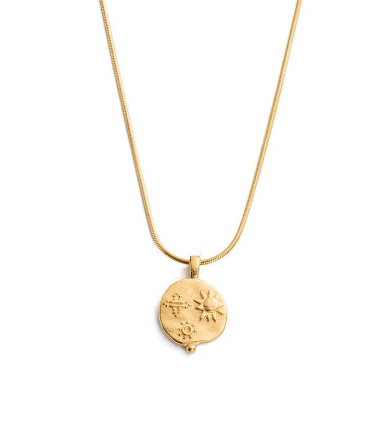 Desert Sun Coin Necklace in gold by Kirstin Ash at PAYA Boutique online