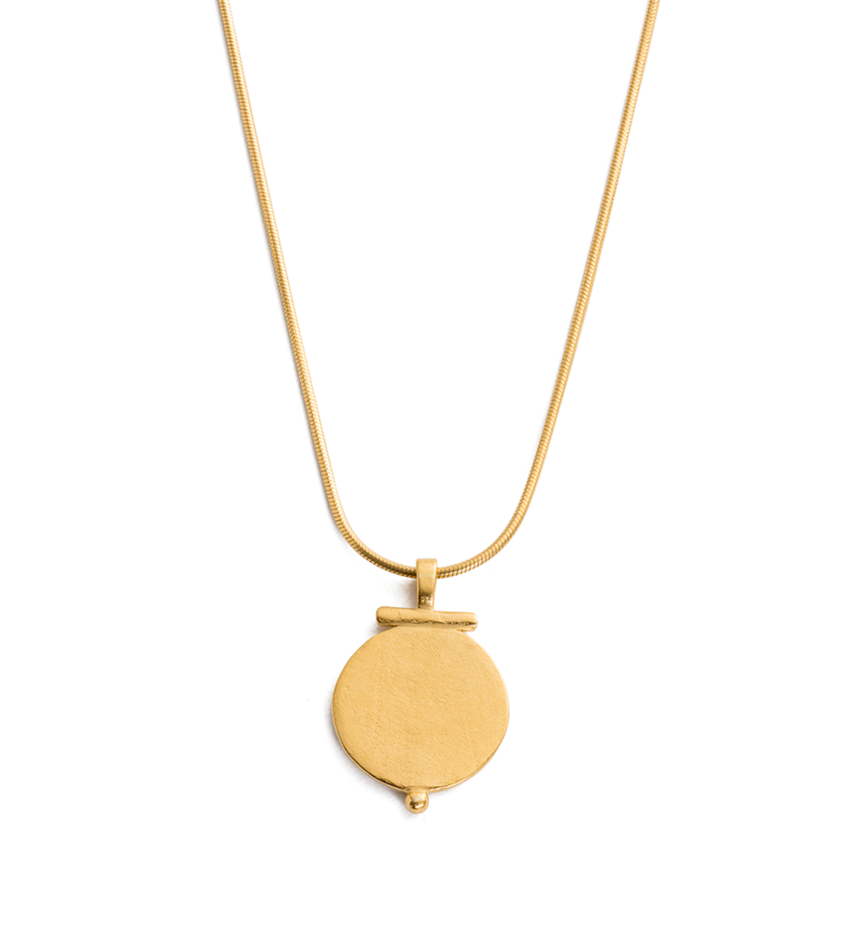 Engravable Poem Necklace in gold by Kirstin Ash at PAYA Boutique online