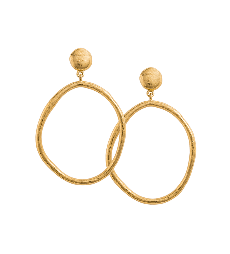 Golden Light Earrings in gold by Kirstin Ash at PAYA Boutique online