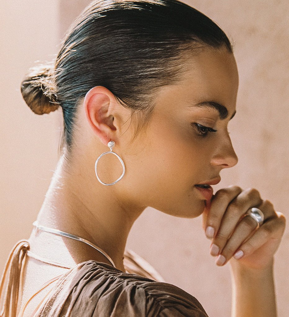 Golden Light Earrings in silver by Kirstin Ash at PAYA Boutique online