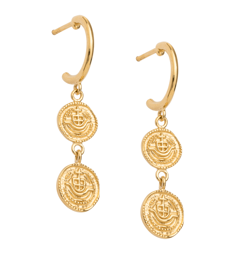 KIRSTIN ASH - Lost Treasure Hoop Earrings online at PAYA boutique