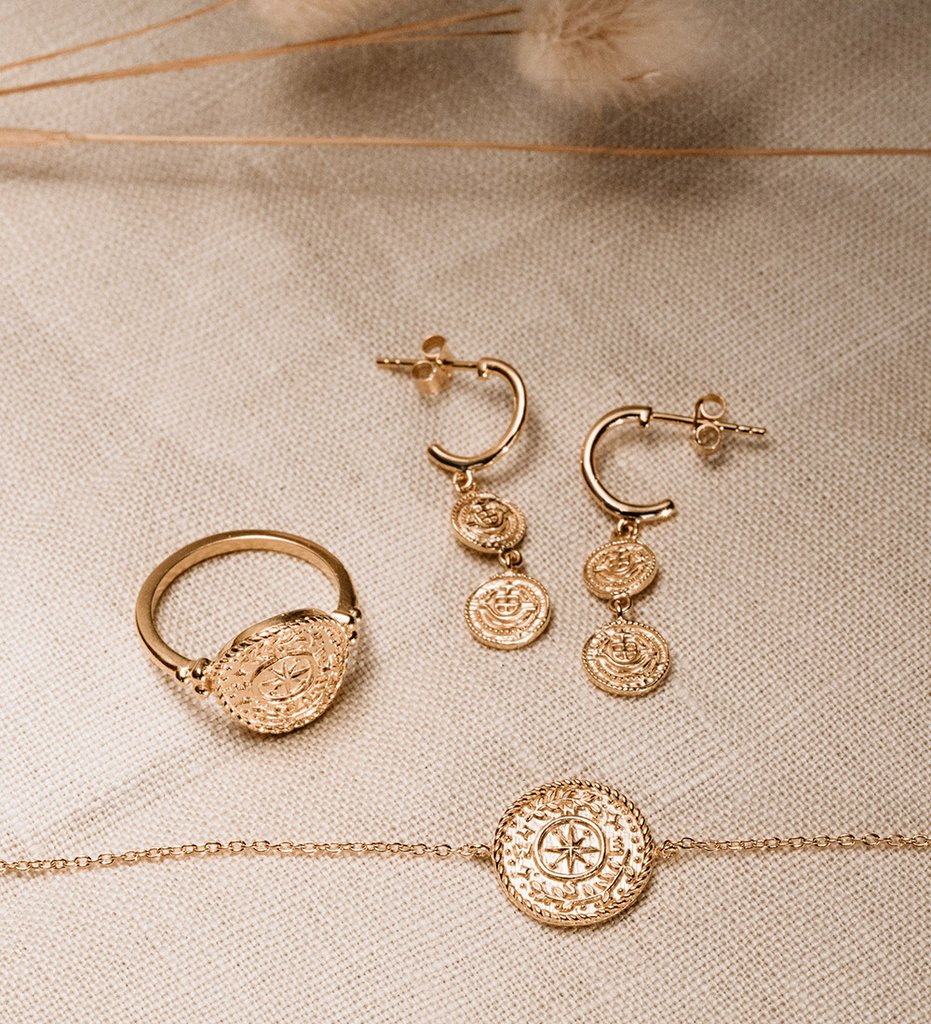 Buy Lost Treasure Hoop Earrings from KIRSTIN ASH at paya boutique