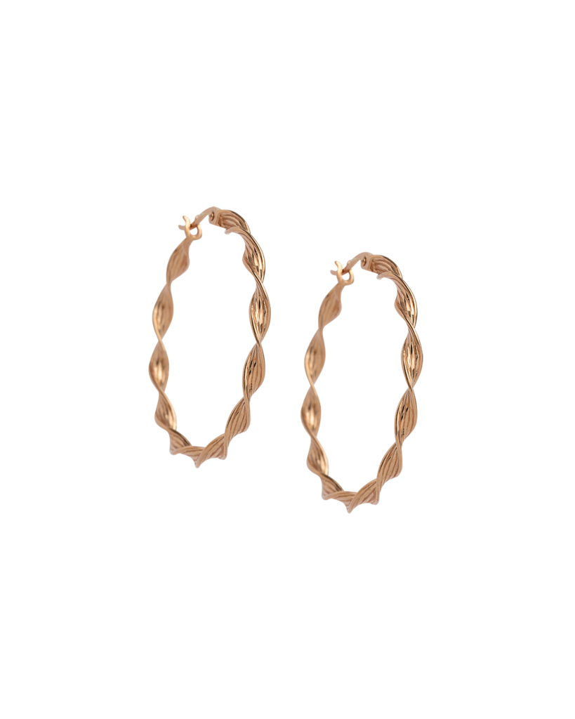 Buy Rope Detail Hoop Earrings from KIRSTIN ASH at paya boutique
