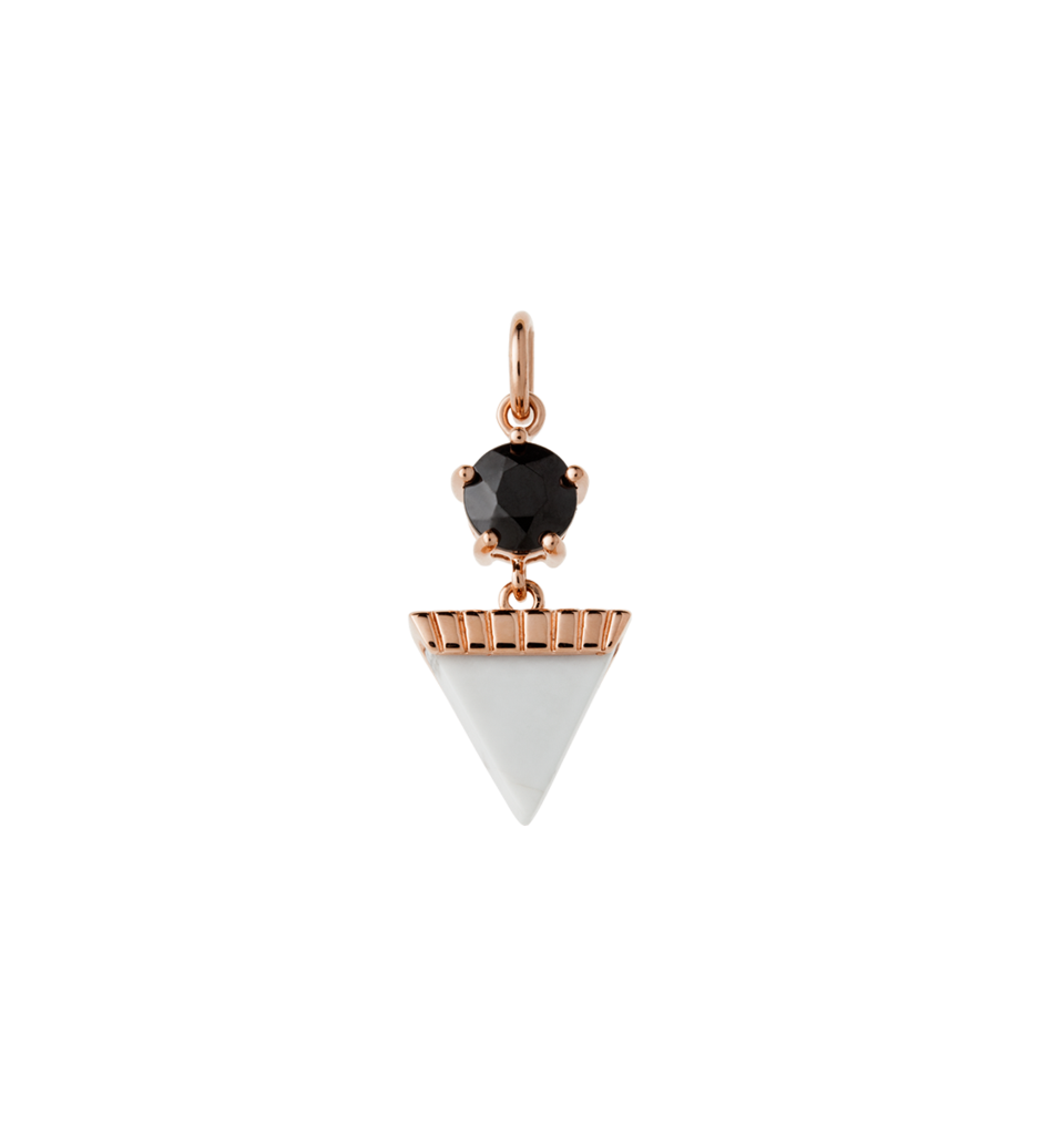KIRSTIN ASH - Triangle Drop Howlite Charm online at PAYA boutique