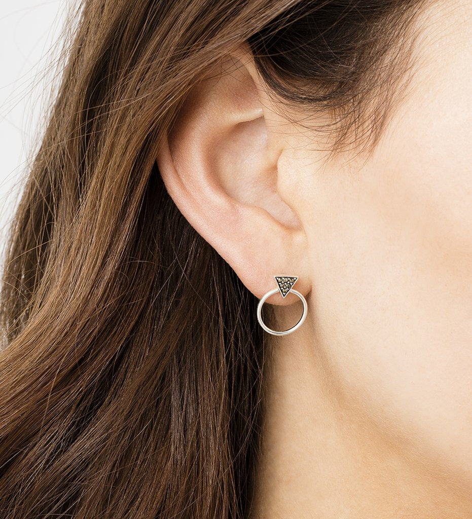 KIRSTIN ASH - Triangle Loop Earrings online at PAYA boutique