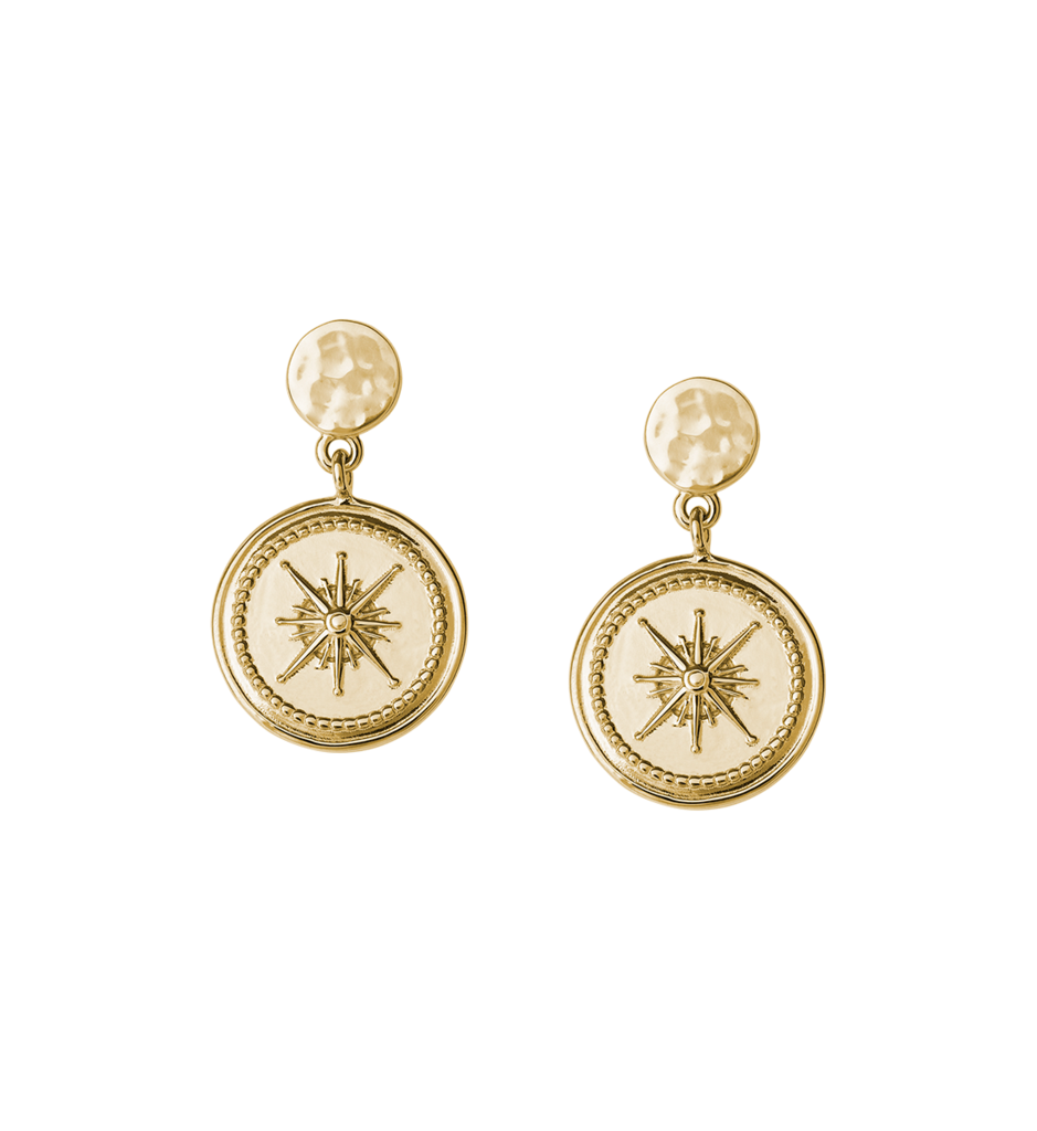 Buy True North Coin Earrings from KIRSTIN ASH at paya boutique