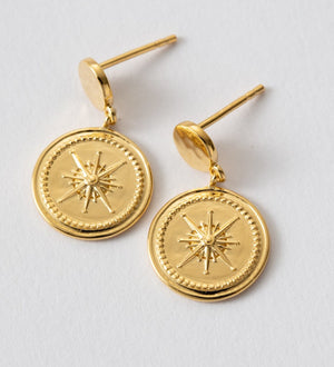 KIRSTIN ASH - True North Coin Earrings online at PAYA boutique