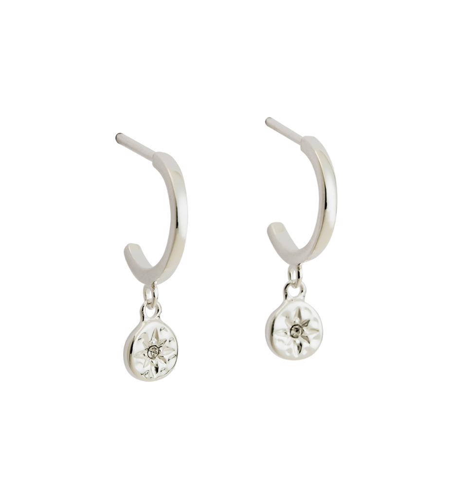 KIRSTIN ASH - Star Coin Hoop Earrings online at PAYA boutique