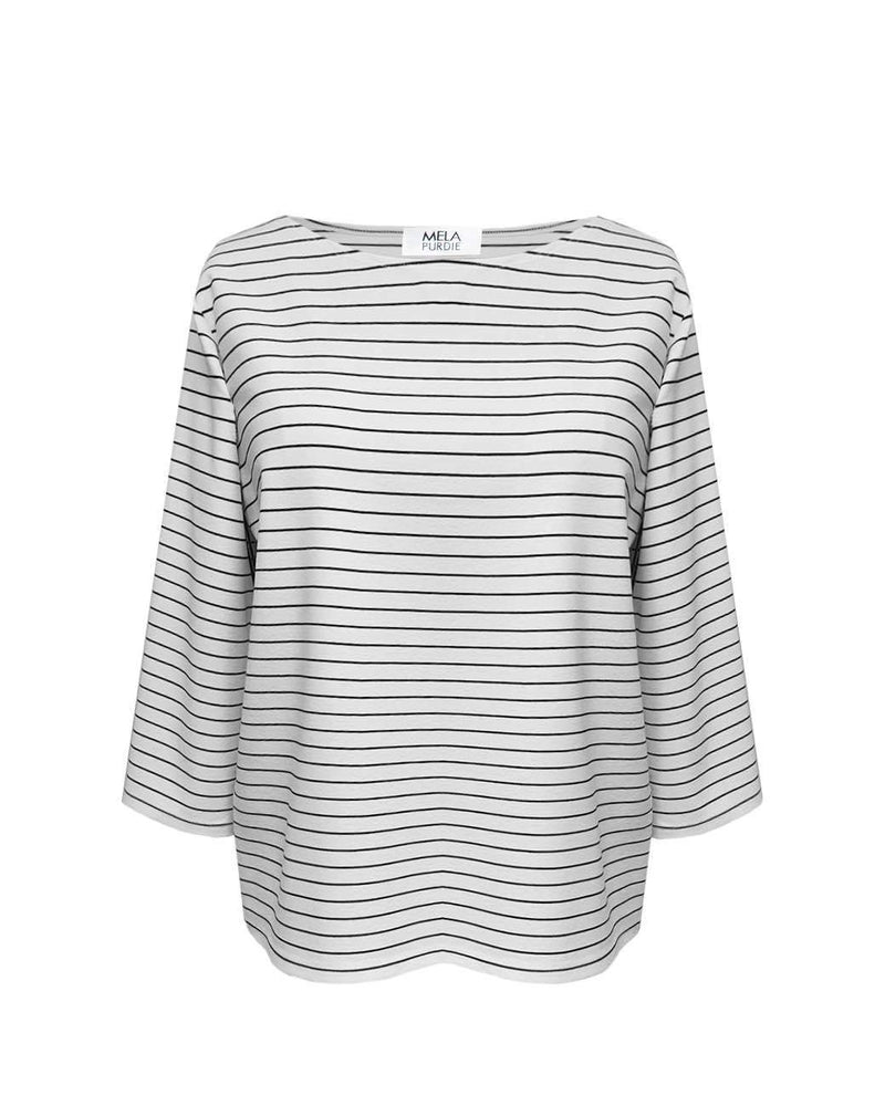 MELA PURDIE - Relaxed Boat Neck Top - Quay Stripe online at PAYA boutique