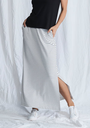 MELA PURDIE - Maxi Track Skirt - Quay Stripe online at PAYA boutique