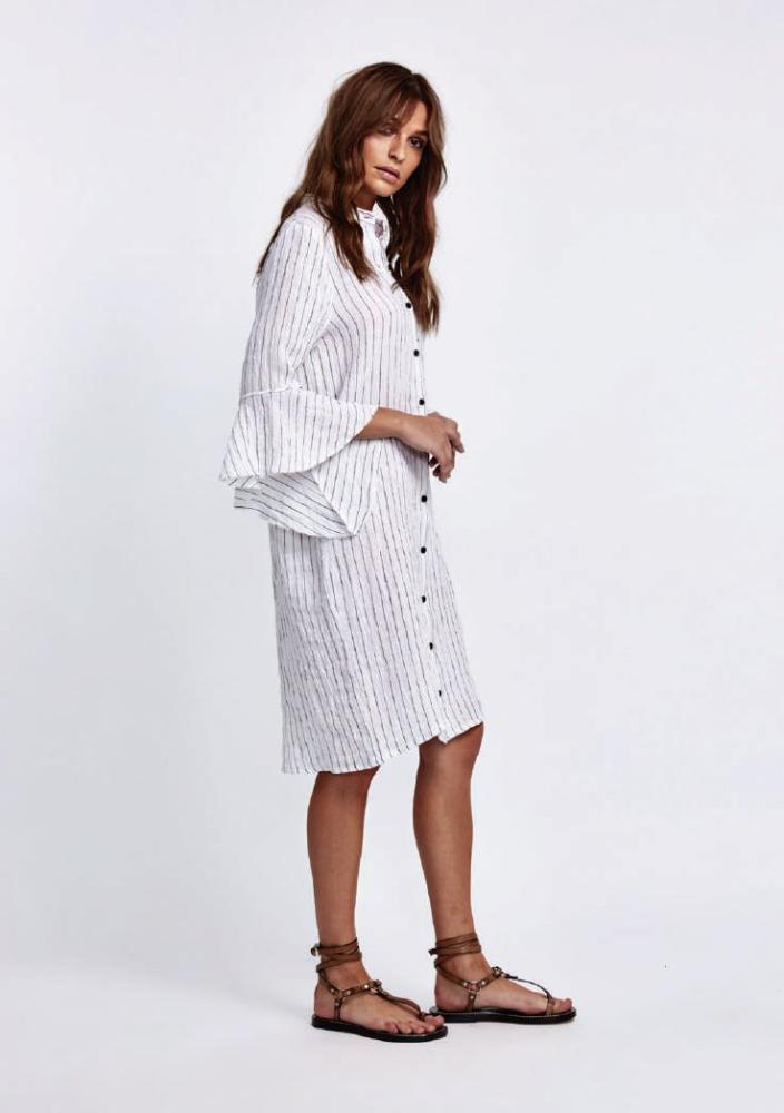 1dbcbea4d7f Addie Linen Shirt Dress from Morrison – paya boutique