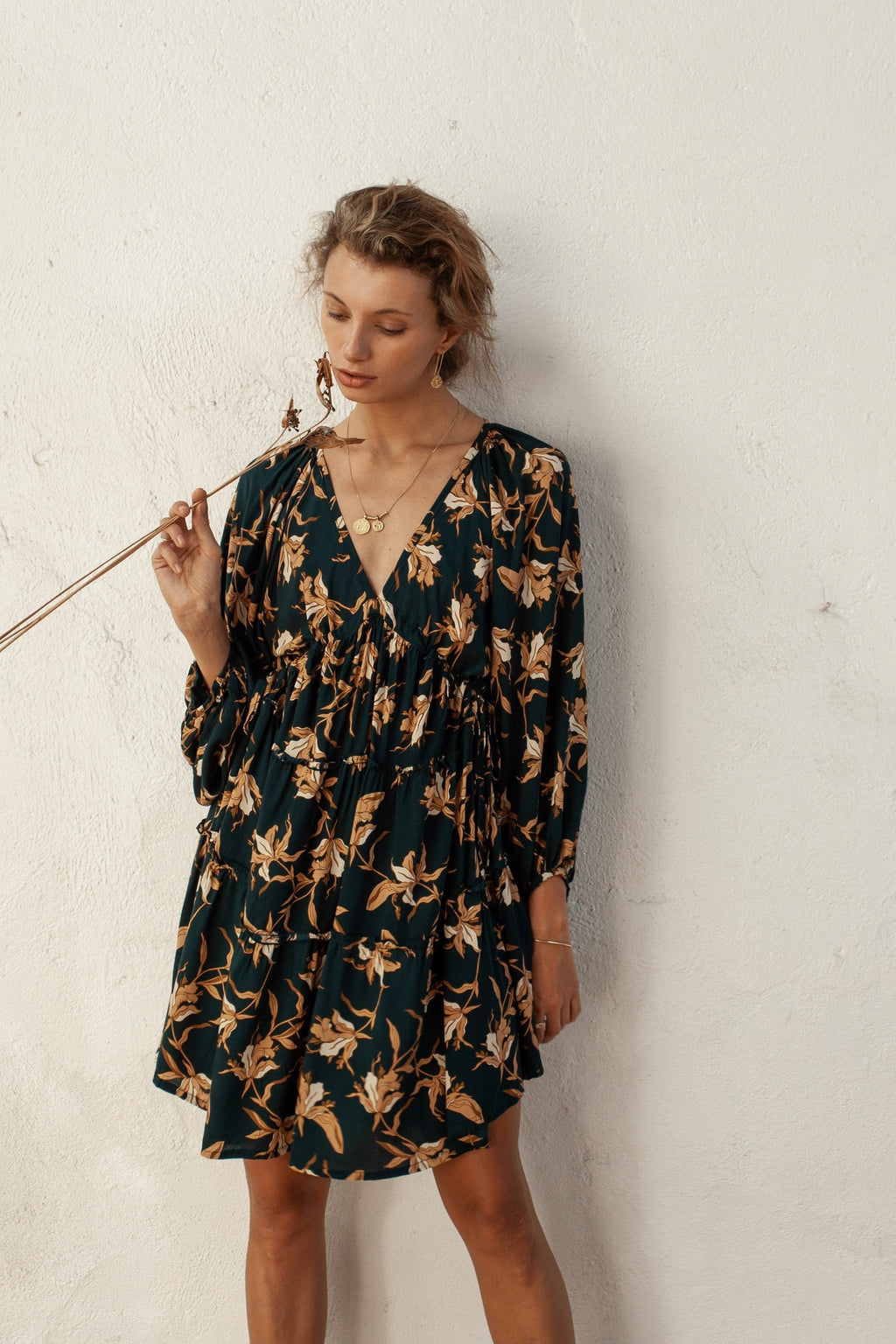 Oleander Smock Dress Azaleas by Bird and Kite online at PAYA Boutique