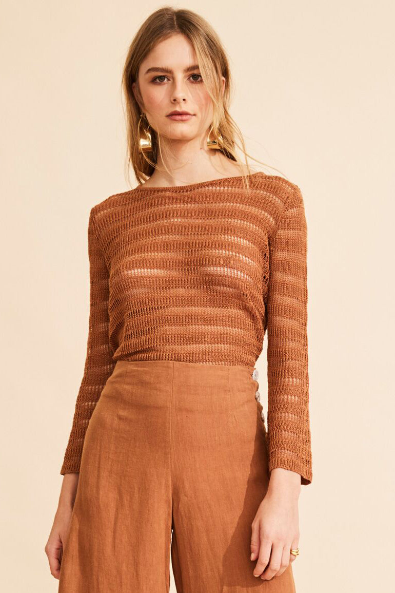 POL CLOTHING - Grand Terrace Knit Top online at PAYA boutique