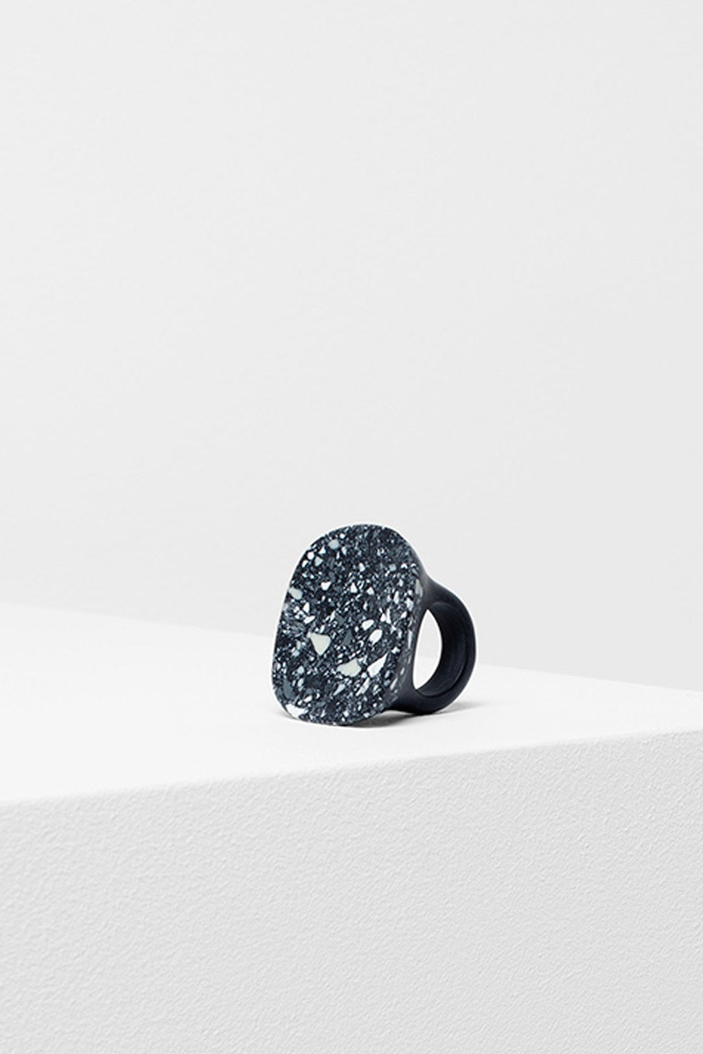 ELK The Label - Large Terrazzo Ring - Black online at PAYA boutique