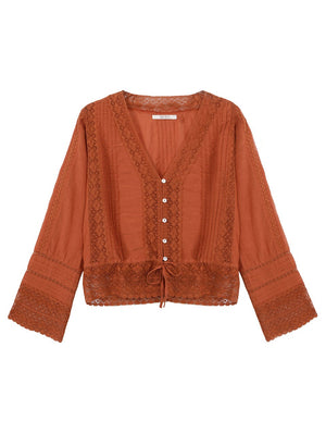 SACK'S - Molan Lace Blouse online at PAYA boutique
