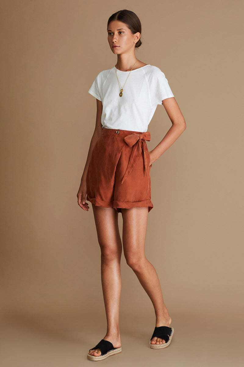 Sancia Delilah shorts in terracotta online at PAYA Boutique - Free delivery online