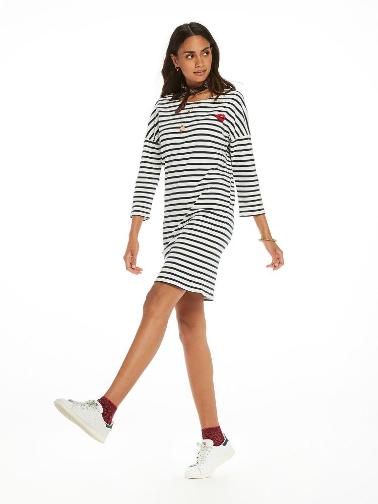 SCOTCH AND SODA - Breton Striped Sweat Dress online at PAYA boutique