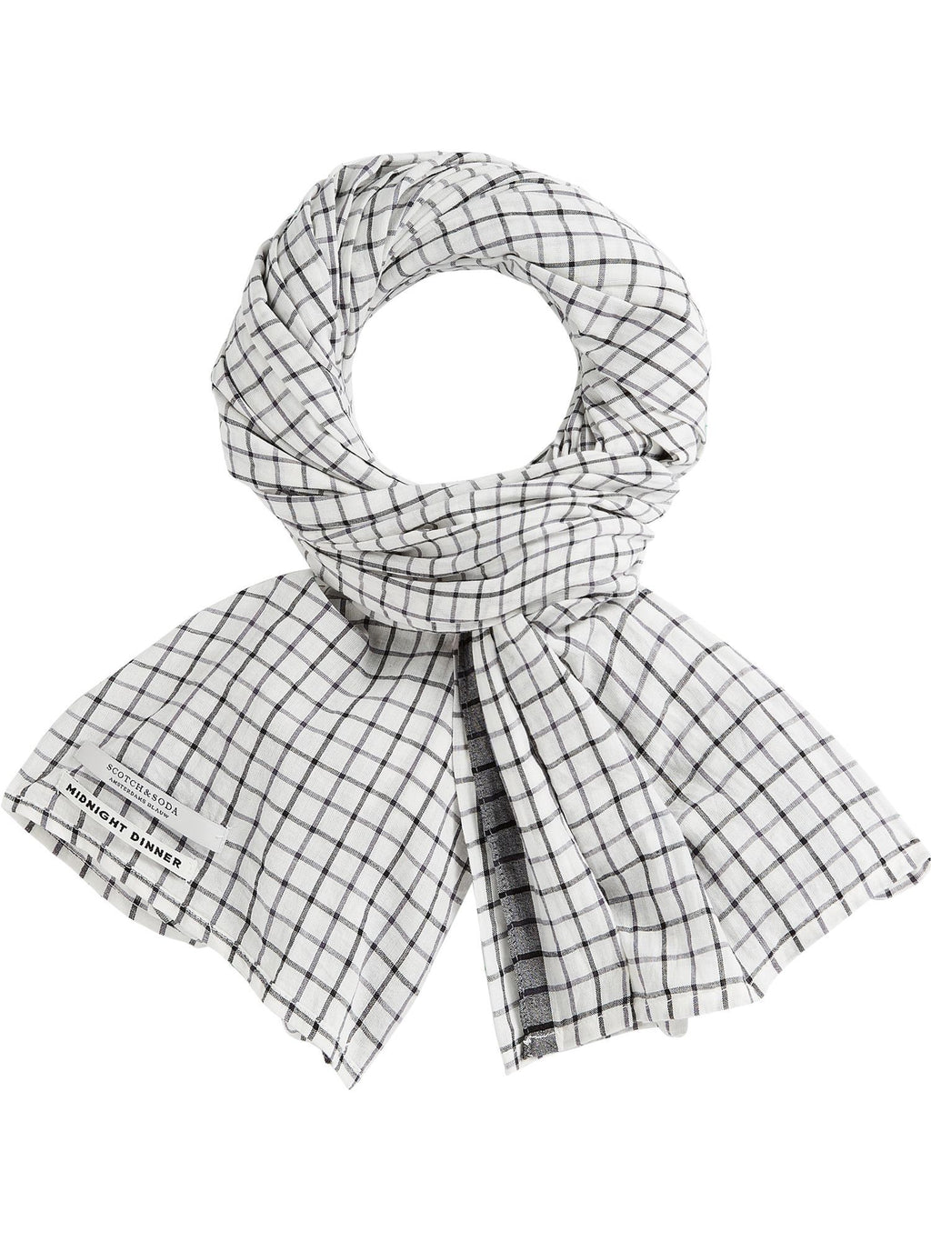 SCOTCH AND SODA - Checked Cotton Scarf online at PAYA boutique